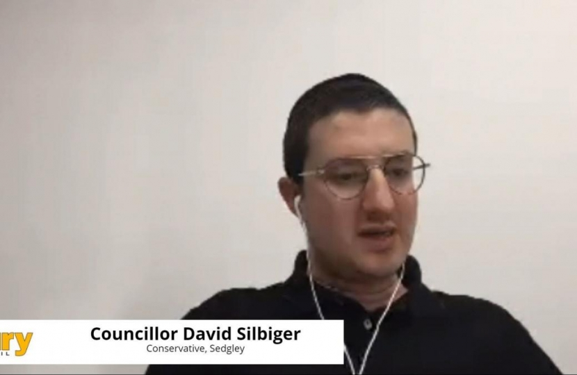 Cllr David Silbiger at committee