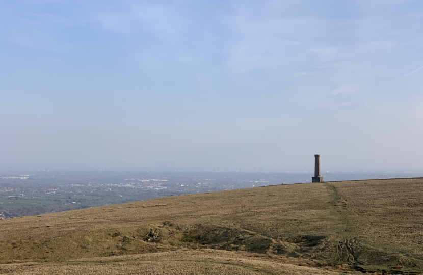A shot of the Peel Monument from nr Pilgrims Cross
